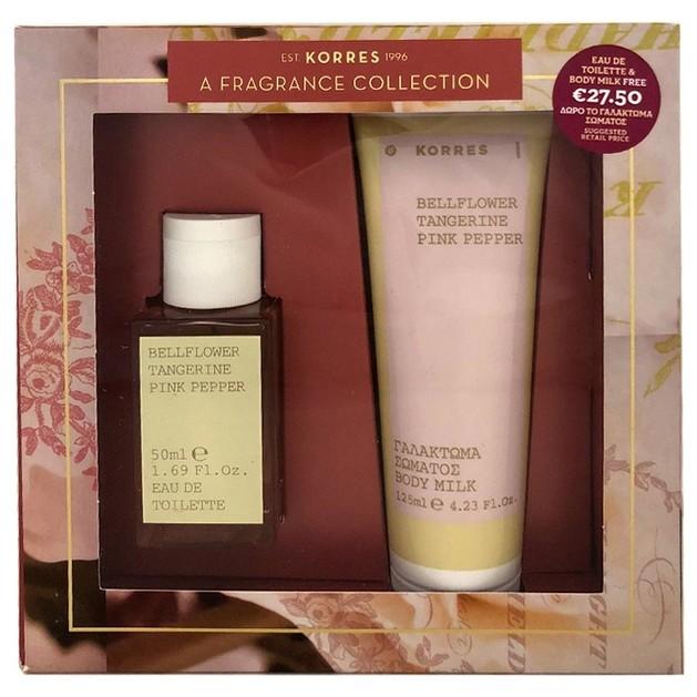 Korres Gift Set Eau De Toilette Bellflower Pink Pepper 50ml & Δώρο Body Milk 125ml