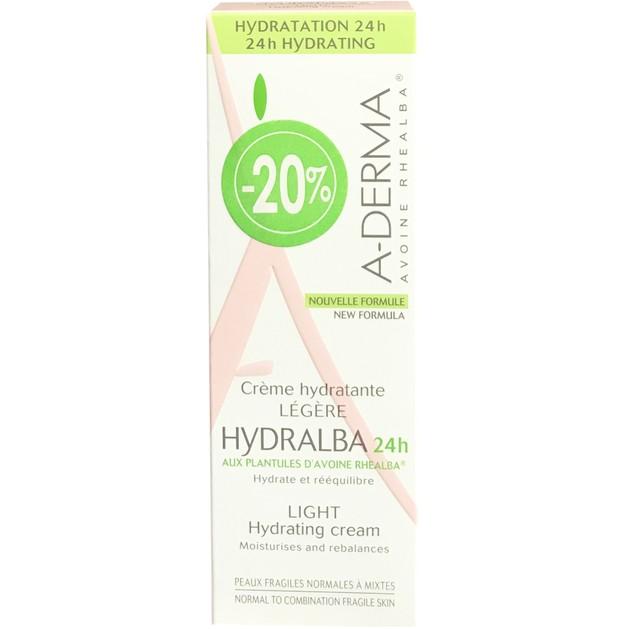 Hydralba 24h Hydratante Legere Cream 40ml Promo -20% - A-derma