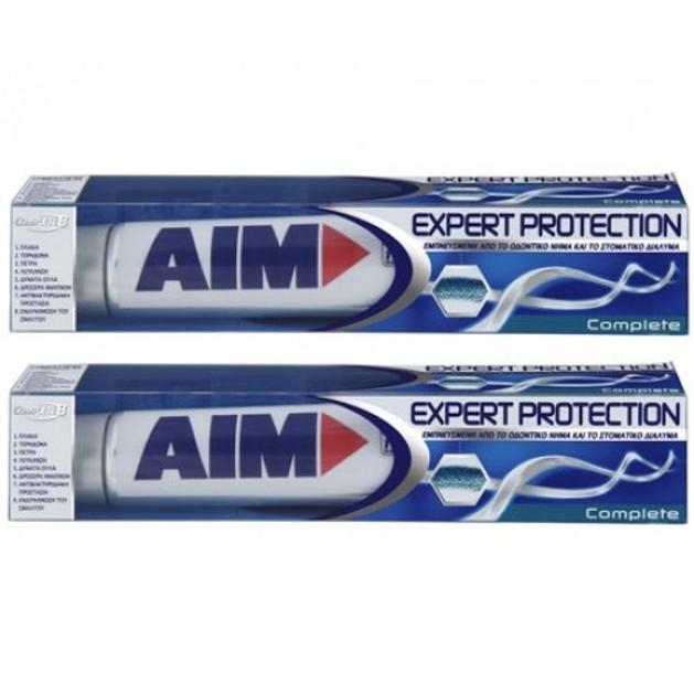 Aim Expert Protection Complete Οδοντόκρεμα 2 x75ml Πακέτο 1+1