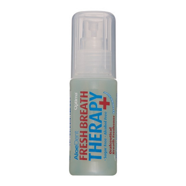 Optima Aloe Dent Fresh Breath Therapy Spray Δυνατή Γεύση Μέντας Και Συνολική Αίσθηση Φρεσκάδας 30ml