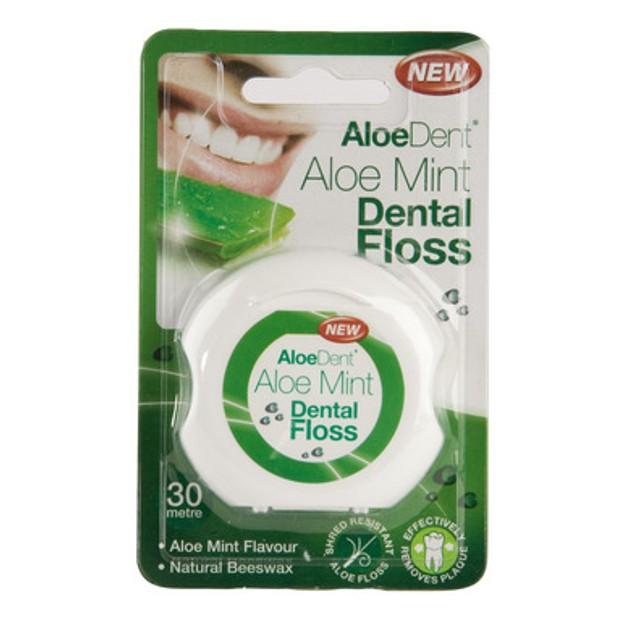 Optima Aloe Mint Dental Floss Εύκολη Διείσδυση Μέσα Στα Δόντια 35m