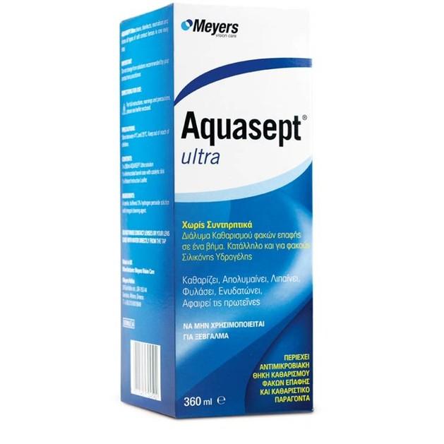 Aquasept Ultra - Υγρό Φακών Επαφής 360ml