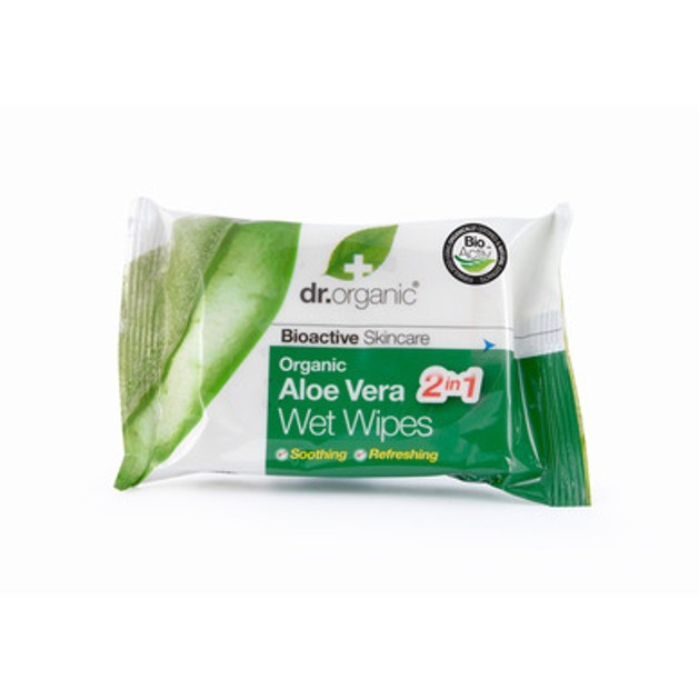 Dr.Organic Organic Aloe Vera Wet Wipes 20 Τεμάχια