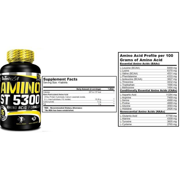 Biotech Usa Amino ST 5300 Μυϊκή Ανάπτυξη Και Αποθεραπεία 120tabs