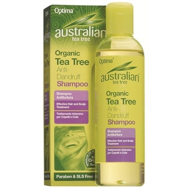 Optima Australian Organic Tea Tree Anti-Dandruff Shampoo Κατά Της Πιτυρίδας 250ml