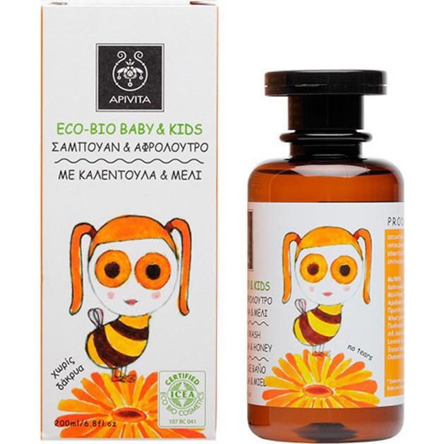Apivita Eco Bio Baby Kids Shampoo 200ml