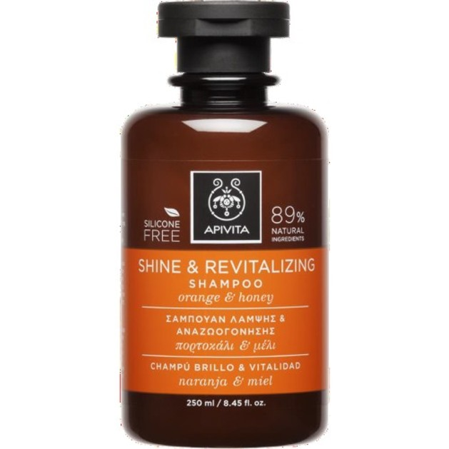 Apivita Shine & Revitalizing Shampoo With Orange & Honey 250ml