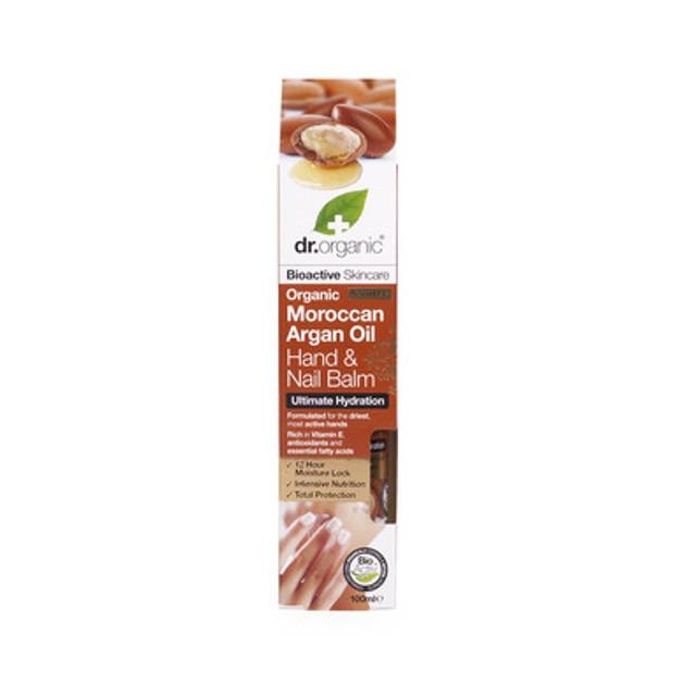Dr Organic Organic Moroccan Argan Oil Hand & Nail Balm Κρέμα Χεριών Και Νυχιών Με Ελαιο Αργκάν 100ml