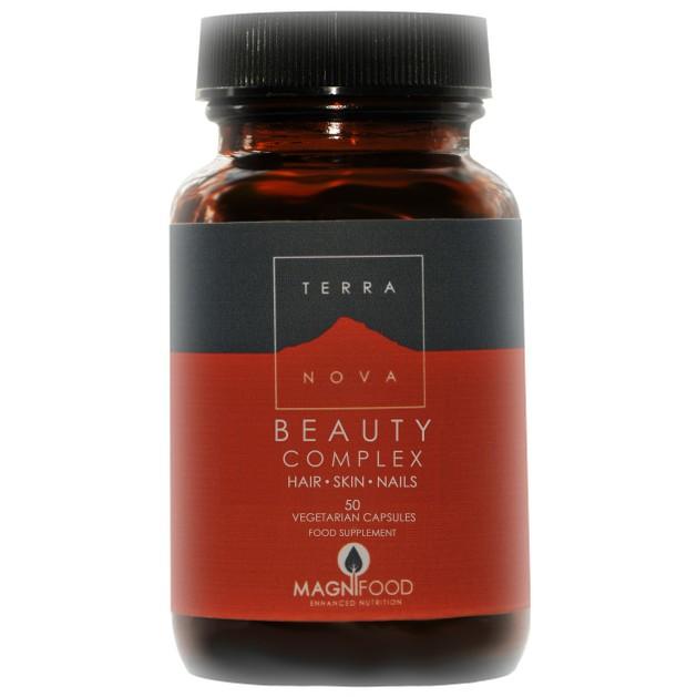 Terranova Beauty Complex Hair - Skin - Nails Ιδανική & Απόλυτα Φυσική Λύση για την Ενίσχυση της Ομορφιάς εκ των Έσω 50Caps