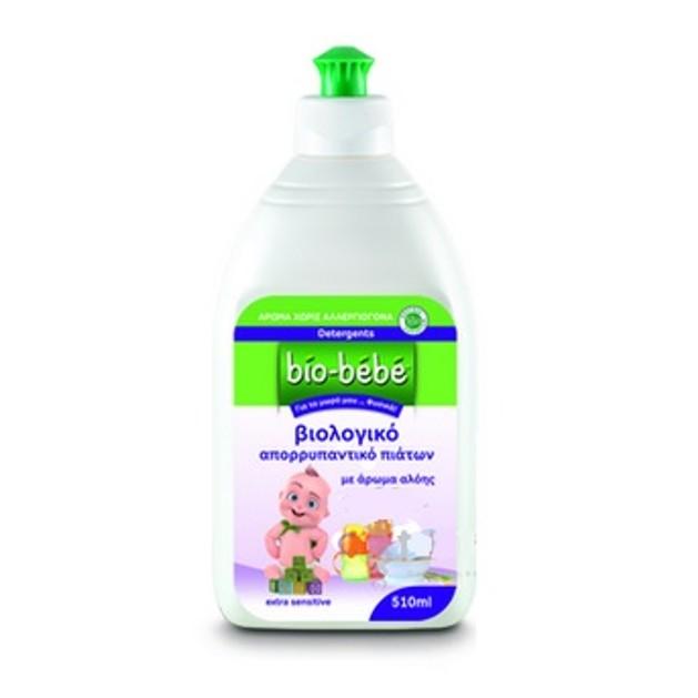 Bio Bebe Βιολογικό Απορρυπαντικό Πιάτων με Άρωμα Αλόης Extra Sensitive 510 ml