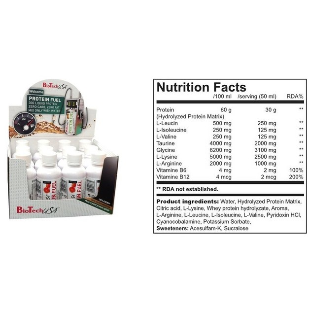 Biotech Usa Protein Fuel Box 12x50ml