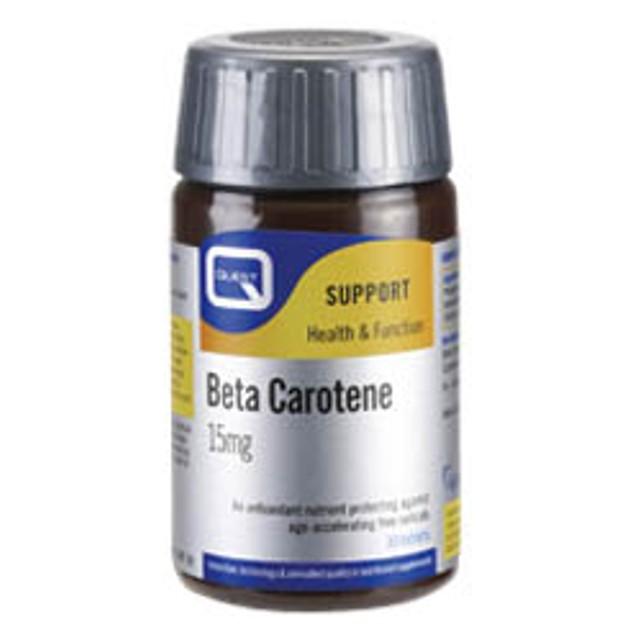Quest Beta Carotene 15 Mg Υδατοδιαλυτό Αντιοξειδωτικό 30 Tabs