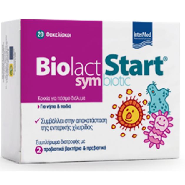 Intermed Biolact Start Symbiotic Προβιοτικά για Νήπια και Παιδιά 20 sticks