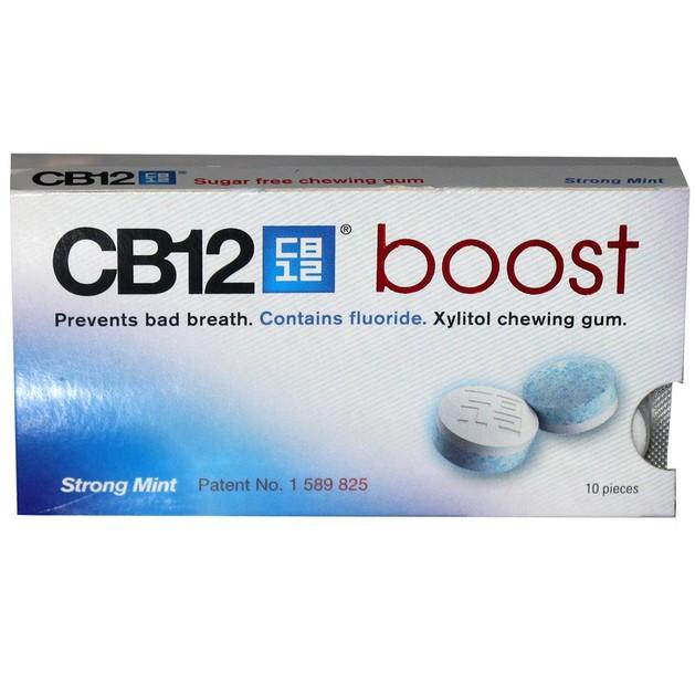 CB12 Boost Strong Mint Τσίχλα Κατά της Κακοσμίας του Στόματος 10gums