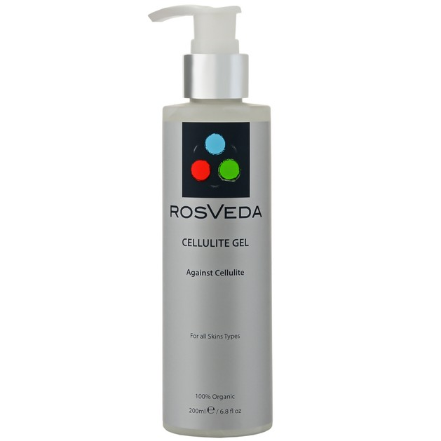 RosVeda Cellulite Gel 100% Φυτική Σύνθεση Gel Μείωσης Κυτταρίτιδας 200ml
