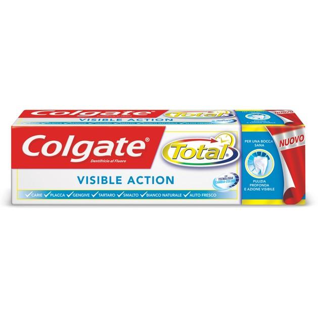 Colgate Total Visible Action Αντιβακτηριδιακή Οδοντόκρεμα  Ενεργής Τεχνολογίας Κατά την Διάρκεια του Βουρτσίσματος 75ml