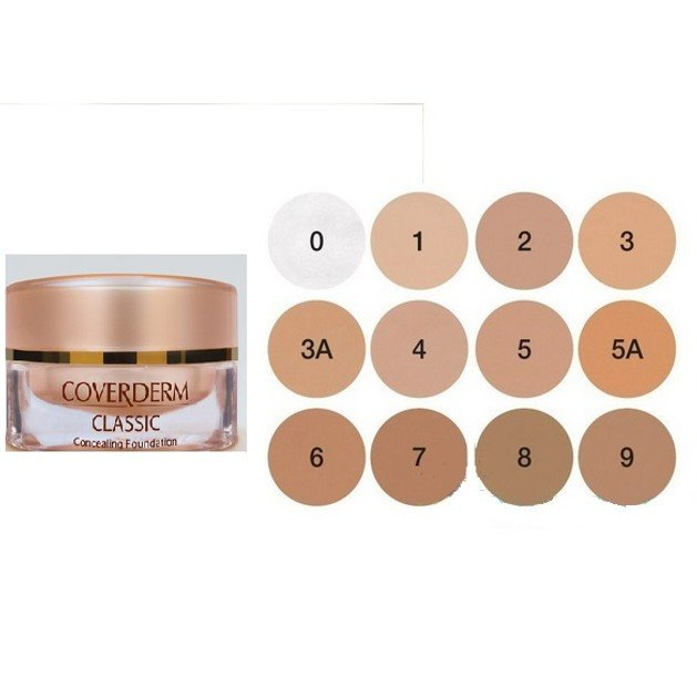 Coverderm Classic Concealing Foundation Make-Up Καλύπτει Τέλεια Και Φυσικά Έντονες Δυσχρωμίες Spf30 15ml