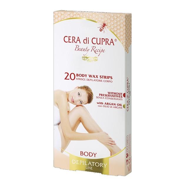 Cera Di Cupra Wax Strips Body Αποτριχώτικες Ταινίες Σώματος 20 Τεμάχια