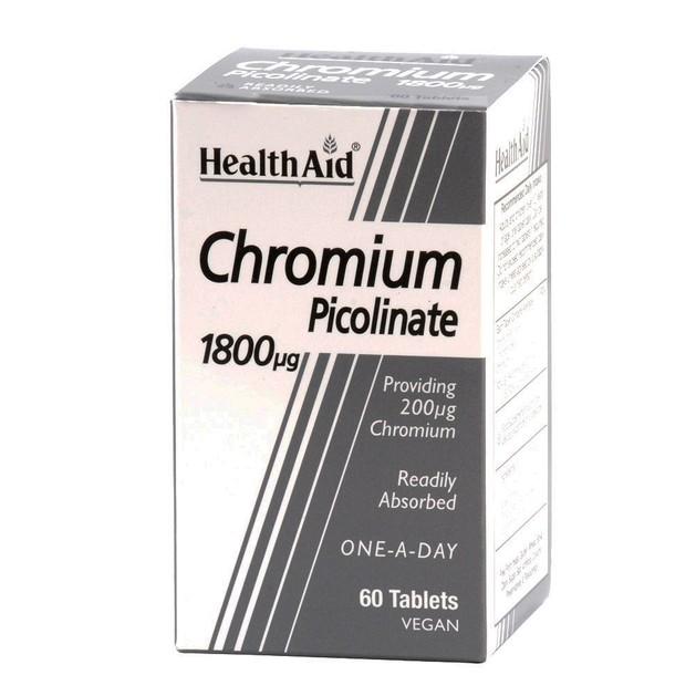 Health Aid Chromium Picolinate 1800μg 60tabs