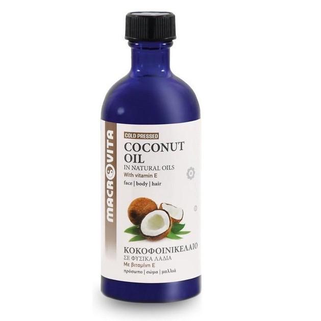 Macrovita Coconut Oil with Vitamins E + C + F 100ml