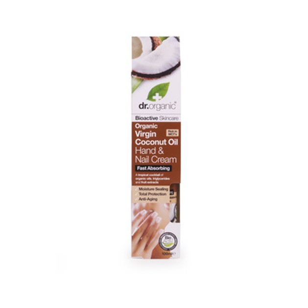 Dr.Organic Organic Virgin Coconut Oil Hand & Nail Cream 100ml
