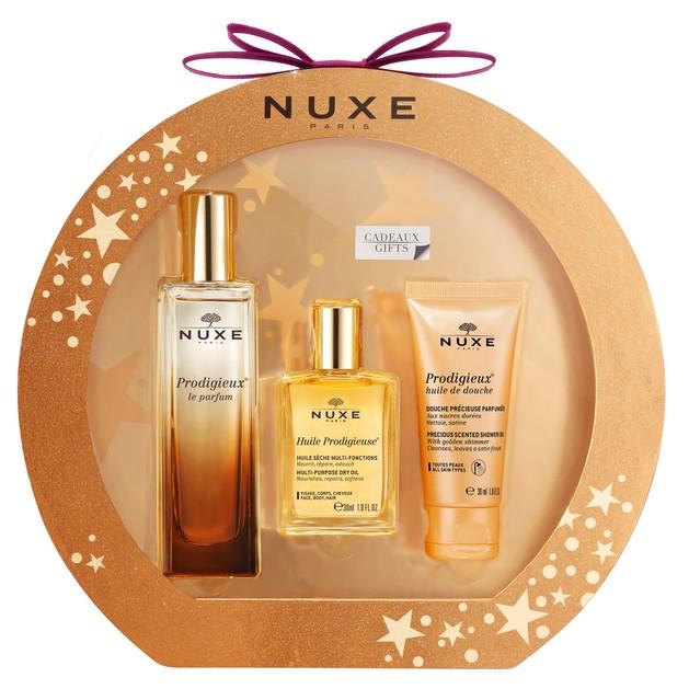 Nuxe Πακέτο Προσφοράς Prodigieux Huile 30ml & Huile De Douche 30ml &  Le Parfum Eau De Parfum 50ml