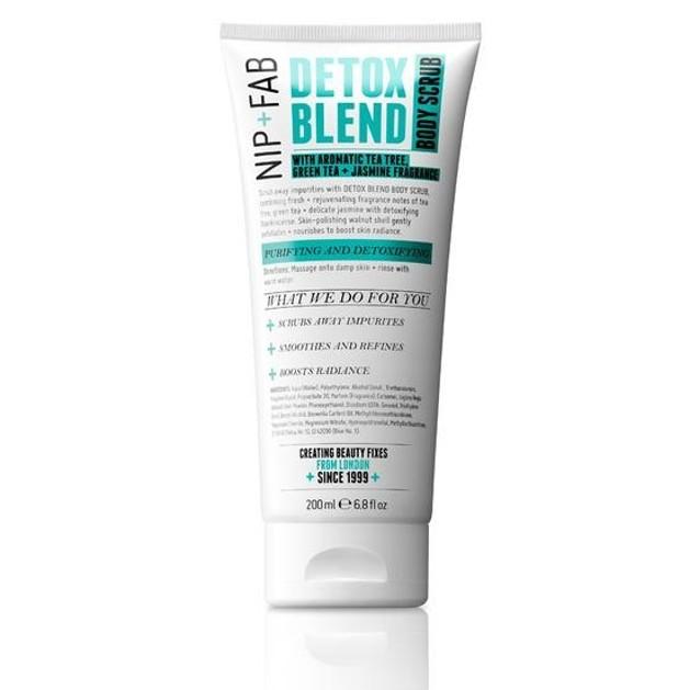 Nip + Fab Detox Blend Body Scrub Απομακρύνει Ρύπους Και Νεκρά Κύτταρα 200ml