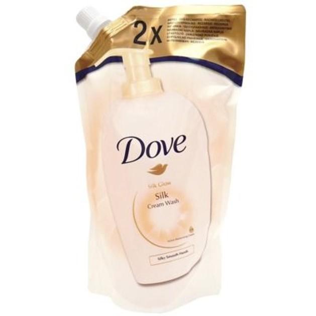 Dove Υγρό Κρεμοσάπουνο Silk Ανταλλακτικό 2 x Refill Pack 500ml