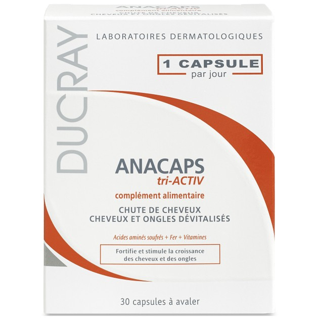 Ducray Anacaps Tri-activ Ενδυνάμωση των Μαλλιών & των Νυχιών 30caps