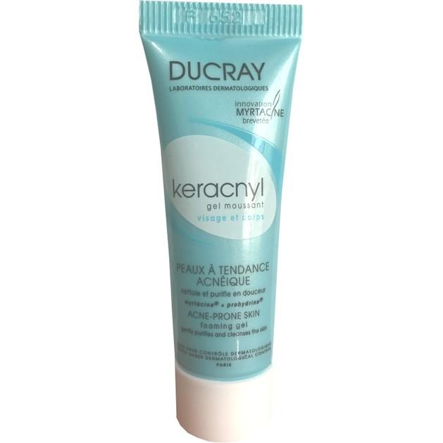 Δώρο Ducray Keracnyl Gel Moussant Gel Καθαρισμού Προσώπου Σώματος, για Δέρματα με Ατέλειες 10ml