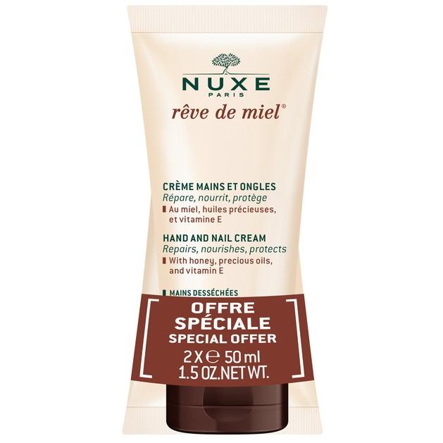 Nuxe Πακέτο Προσφοράς Reve de Miel Crème Mains et Ongles Κρέμα Χεριών Θρέψης Αναπληρώνει τα Λιπίδια & Ενυδατώνει σε Βάθος 2x50ml