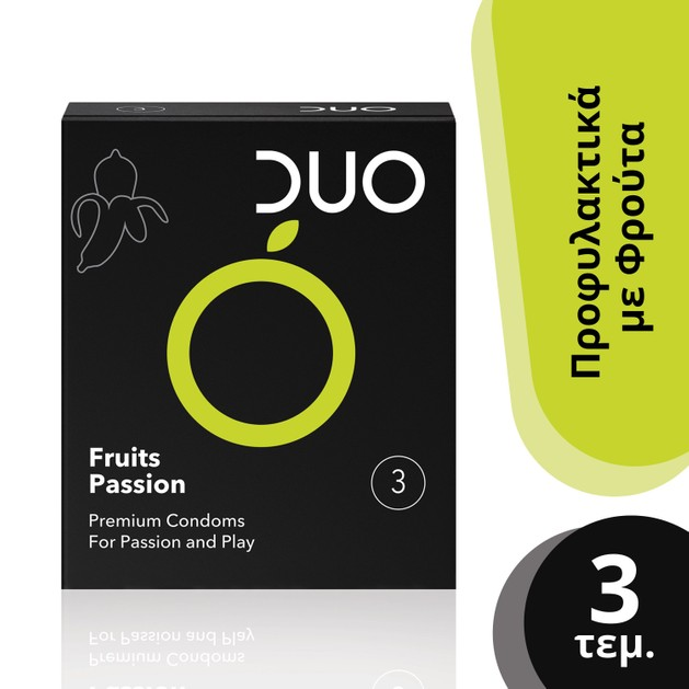 Duo Flavoured Fruits Passion Προφυλακτικά Με Γεύσεις 3 τεμάχια