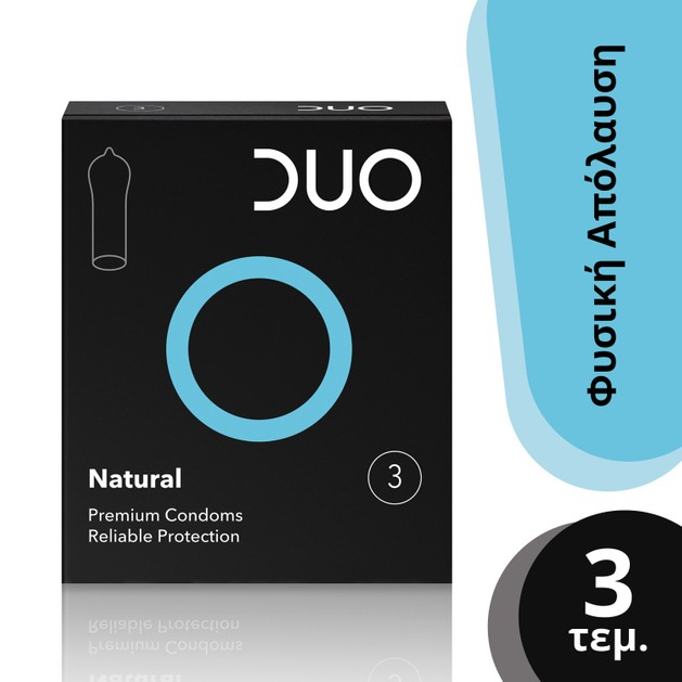 Duo Natural Φυσικό Προφυλακτικό 3τεμ