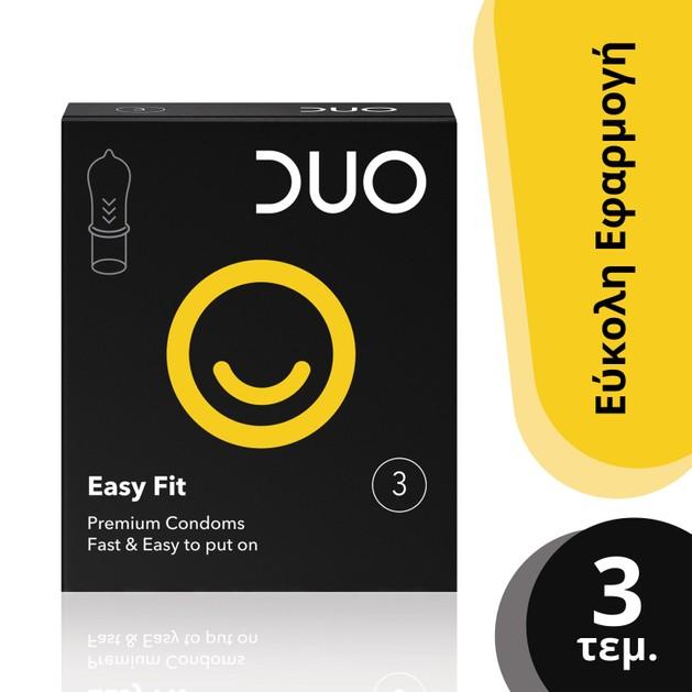 Duo Easy Fit Ευκολοφόρετα Προφυλακτικά 3 τεμάχια