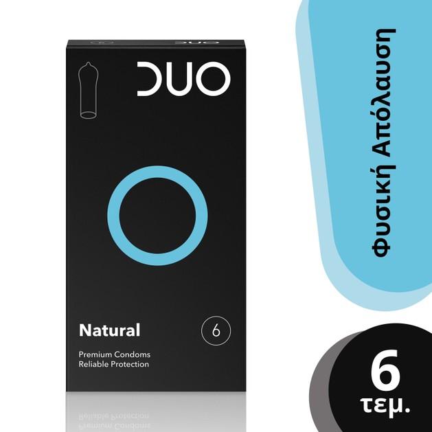 Duo Natural Φυσικά Προφυλακτικά 6 τεμάχια