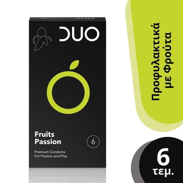 Duo Flavoured Fruits Passion Πλροφυλακτικά Με Γεύσεις 6τεμ