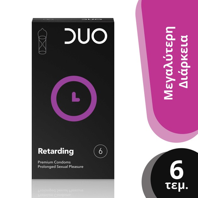 Duo Retarding Προφυλακτικά Με Φυσικό Επιβραδυντικό 6 τεμάχια