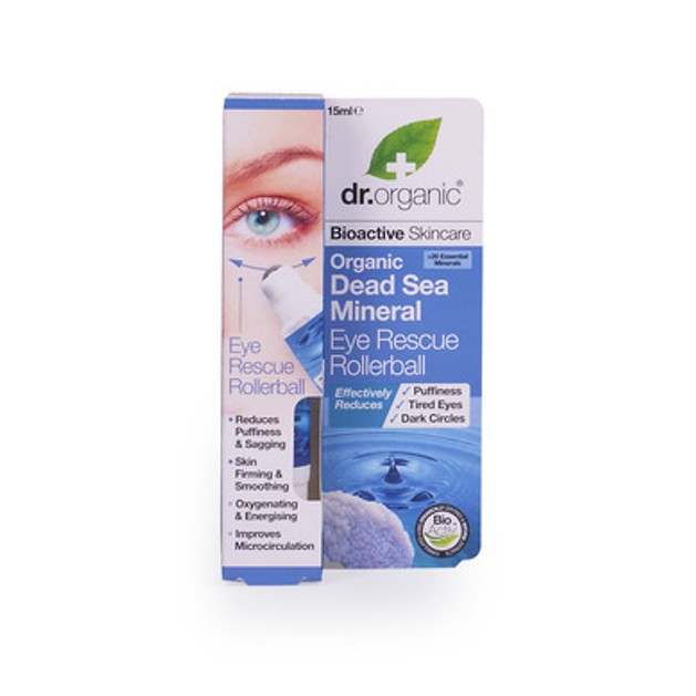 Dr.Organic Organic Dead Sea Mineral Eye Rescue Rollerball 15ml
