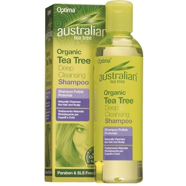 Optima Australian Organic Tea Tree Deep Cleansing Shampoo Περιποίηση Και Την Ενδυνάμωση Των Μαλλιών 250ml