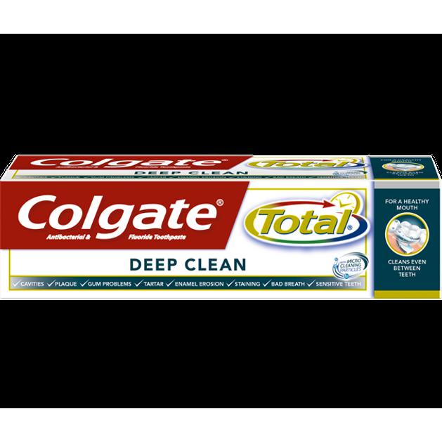 Colgate Total Interdental Deep Clean Φθοριούχος Οδοντόκρεμα 75ml