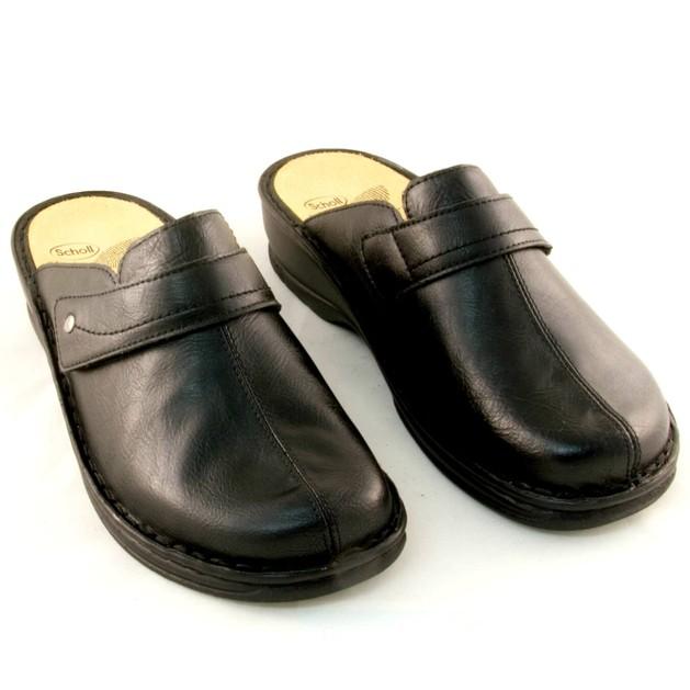 Scholl Shoes Lenk Μαύρο Γυναικείες Ανατομικές Παντόφλες, Χαρίζουν Σωστή Στάση & Φυσικό Χωρίς Πόνο Βάδισμα Νο37 1 Ζευγάρι