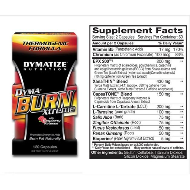 Dymatize Dyma Burn X-treme Θερμογεννητικοί Λιποδιαλύτες caps