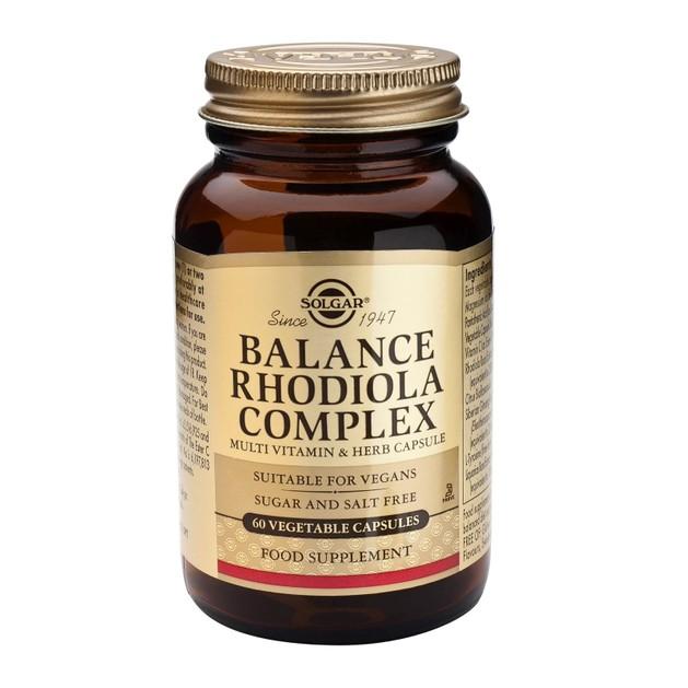 Solgar Balance Rhodiola Complex Συμπλήρωμα Διατροφής για την Καταπολέμηση του Στρες 60 Caps
