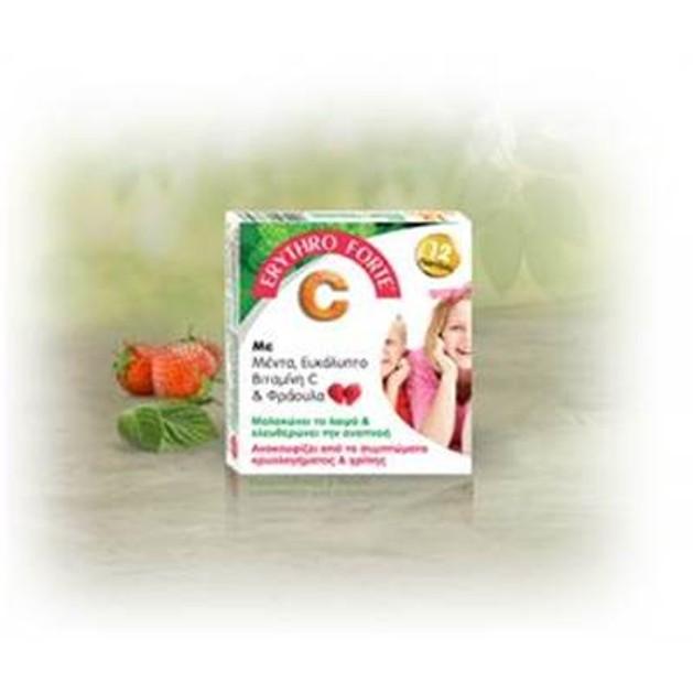 Erythro Forte  Παστίλιες Για Παιδιά Με Μέντα Ευκάλυπτο Βιταμίνη C Και Φράουλα