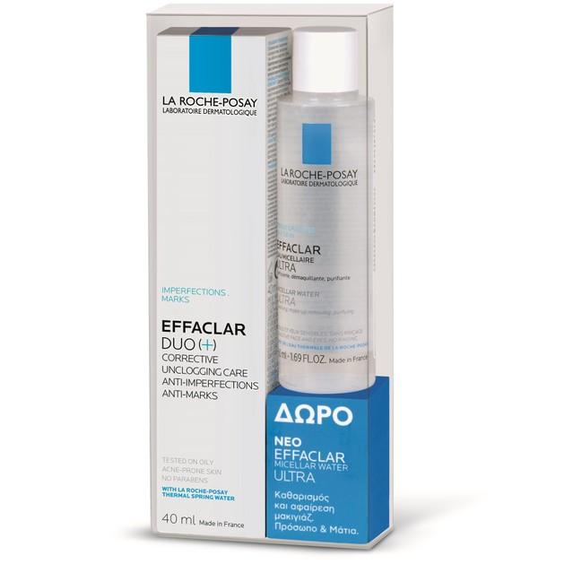 La Roche-Posay Πακέτο Προσφοράς Effaclar Duo+ 40ml & Δώρο Eau Micellaire Purifiante 50ml