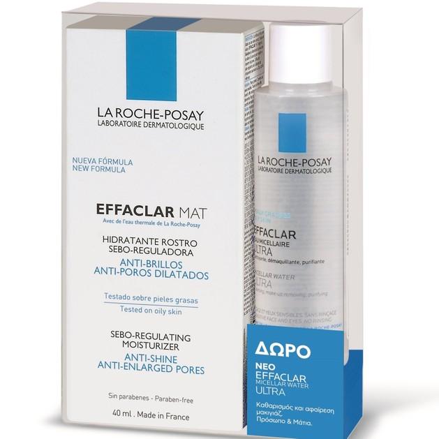 La Roche-Posay Πακέτο Προσφοράς Effaclar Mat 40ml & Δώρο Effaclar Purifying Micellar Water 50ml