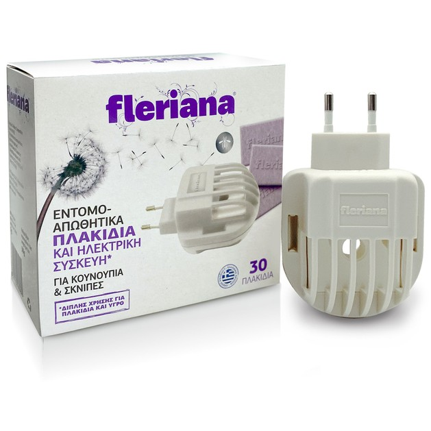 Power Health Fleriana Εντομοαπωθητικά Πλακίδια & Ηλεκτρική Συσκευή για Κουνούπια & Σκνίπες 30πλακίδια