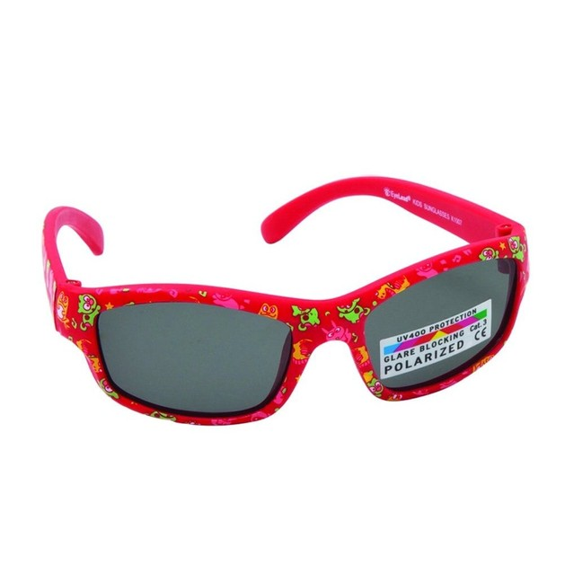 Eyelead Γυαλιά Ηλίου Παιδικά με Κόκκινο Σκελετό & Σχέδια K1007