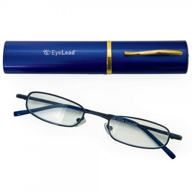Eyelead Pocket P 205 Γυαλιά Διαβάσματος Τσέπης, Περιλαμβάνεται Θήκη. Με Εύκαμπτο Βραχίονα & Ανθεκτικό Σκελετό Χρώμα Μπλε
