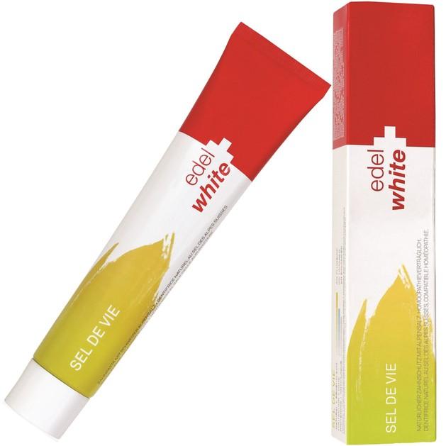 Edel White Sel De Vie Φυσική Οδοντόκρεμα για Ενδυνάμωση των Ούλων & Καταπολέμηση της Πλάκας 75ml